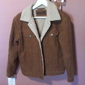Brandy melville brown corduroy sherpa jacket